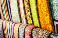 Afrykańskie tkaniny od Ghana, afryka zachodnia Obraz Royalty Free