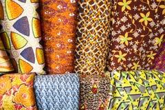Afrykańskie tkaniny od Ghana, afryka zachodnia Zdjęcia Stock