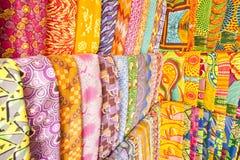 Afrykańskie tkaniny od Ghana, afryka zachodnia Zdjęcie Royalty Free
