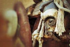 Afrykańskie Tradycyjne Etniczne i Tajemnicze Drewniane maski Zdjęcie Royalty Free