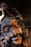 Afrykańskie Tradycyjne Etniczne i Tajemnicze Drewniane maski Fotografia Stock
