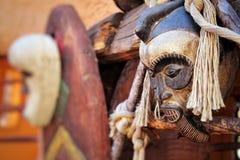 Afrykańskie Tradycyjne Etniczne i Tajemnicze Drewniane maski Obraz Royalty Free