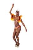Afrykańskiej kobiety dancingowa samba Obraz Stock