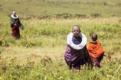 Afryka Tanzania, Marzec, - 2016: Masai dzieci Obraz Royalty Free