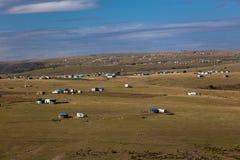 Afryka Transkei Kształtuje teren Domy Obraz Royalty Free
