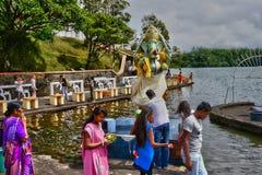 Afryka, Uroczysta Bassin indyjska świątynia w Mauritius wyspie Obraz Stock