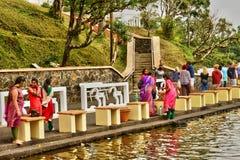 Afryka, Uroczysta Bassin indyjska świątynia w Mauritius wyspie Zdjęcia Stock