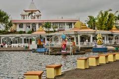 Afryka, Uroczysta Bassin indyjska świątynia w Mauritius wyspie Fotografia Royalty Free