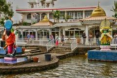 Afryka, Uroczysta Bassin indyjska świątynia w Mauritius wyspie Obrazy Stock