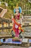 Afryka, Uroczysta Bassin indyjska świątynia w Mauritius wyspie Zdjęcia Royalty Free