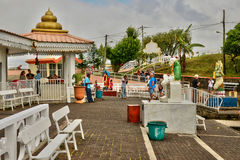 Afryka, Uroczysta Bassin indyjska świątynia w Mauritius wyspie Fotografia Stock