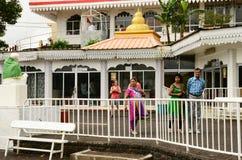 Afryka, Uroczysta Bassin indyjska świątynia w Mauritius wyspie Obrazy Royalty Free