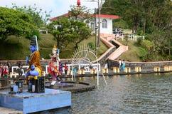 Afryka, Uroczysta Bassin indyjska świątynia w Mauritius wyspie Zdjęcie Royalty Free
