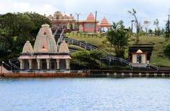 Afryka, Uroczysta Bassin indyjska świątynia w Mauritius wyspie Zdjęcie Stock