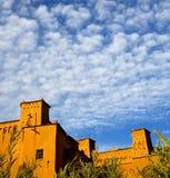 Afryka w Morocco stary contruction i dziejowa wioska Obrazy Royalty Free