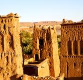 Afryka w Morocco stary contruction i dziejowa wioska Obrazy Stock