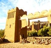 Afryka w Morocco stary contruction i dziejowa wioska Zdjęcie Royalty Free