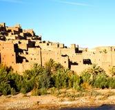 Afryka w Morocco stary contruction i dziejowa wioska Obraz Stock