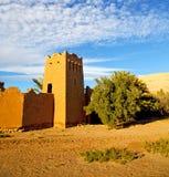 Afryka w Morocco stary contruction i dziejowa wioska Zdjęcia Royalty Free