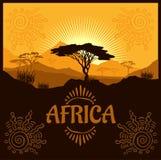 Afryka - wektorowy plakat Obrazy Royalty Free