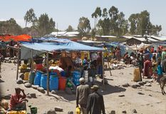 Afryka wiejski rynek Zdjęcie Royalty Free