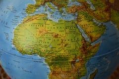 Afryka - Wysoce szczegółowa polityczna mapa obraz stock