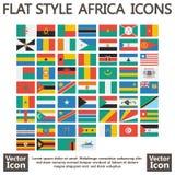 Afryka zaznacza mieszkanie Obrazy Stock