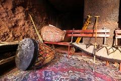 Afrykanów bębeny i pielgrzymi prącie, Etiopia Zdjęcia Royalty Free