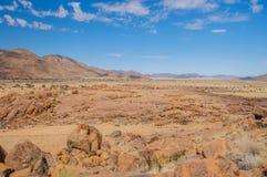 Afrykanów krajobrazy - Namib pustynia Namibia Obrazy Stock