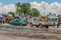Afrykanów krajobrazy - Osakati Namibia Zdjęcia Royalty Free
