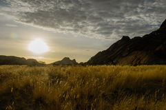 Afrykanów krajobrazy - Spitzkoppe Namibia Obrazy Stock