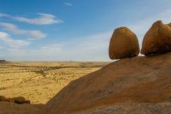 Afrykanów krajobrazy - Spitzkoppe Namibia Zdjęcie Royalty Free