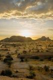 Afrykanów krajobrazy - Spitzkoppe Namibia Zdjęcia Royalty Free