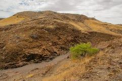 Afrykanów krajobrazy - Twijfelfontein Namibia Fotografia Royalty Free