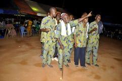 AFRYKANIN CONTEURS PRZY pogrzebem matka prezydent LAURENT GBAGBO Fotografia Stock