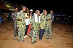 AFRYKANIN CONTEURS PRZY pogrzebem matka prezydent LAURENT GBAGBO Zdjęcie Royalty Free