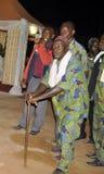 AFRYKANIN CONTEURS PRZY pogrzebem matka prezydent LAURENT GBAGBO Obraz Royalty Free