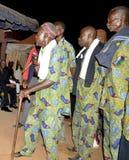 AFRYKANIN CONTEURS PRZY pogrzebem matka prezydent LAURENT GBAGBO Zdjęcie Stock