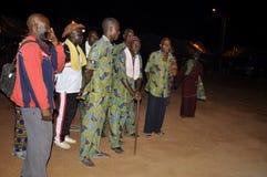 AFRYKANIN CONTEURS PRZY pogrzebem matka prezydent LAURENT GBAGBO Zdjęcia Royalty Free