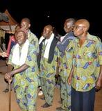 AFRYKANIN CONTEURS PRZY pogrzebem matka prezydent LAURENT GBAGBO Fotografia Royalty Free
