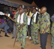 AFRYKANIN CONTEURS PRZY pogrzebem matka prezydent LAURENT GBAGBO Zdjęcia Stock