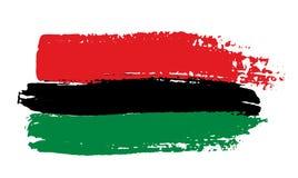 Afrykanin flaga royalty ilustracja