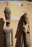 Afrykanin grafika & maska Zdjęcie Stock
