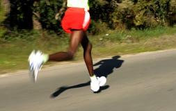 afrykanin iść na piechotę biegacza Obrazy Royalty Free