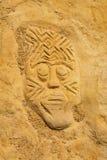Afrykanin jak plemienna twarz Obrazy Royalty Free