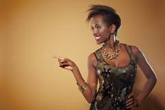 afrykanin kobieta palcowa target1064_0_ Obrazy Royalty Free