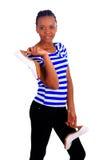 afrykanin kobieta wysoka butów czarownicy kobieta Fotografia Royalty Free