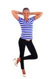 afrykanin kobieta wysoka butów czarownicy kobieta Zdjęcia Royalty Free