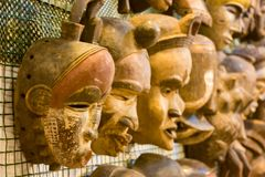 afrykanin maski przy rynkiem Obrazy Stock