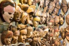 afrykanin maski przy rynkiem Zdjęcie Stock